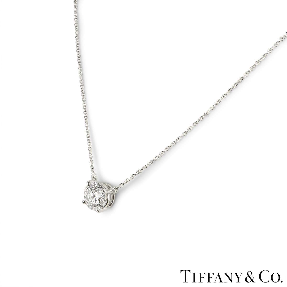 Tiffany & Co. Platinum Diamond Solitaire Pendant 2.01ct F/VS1